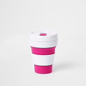 Stojo pink silicone collapsible cup