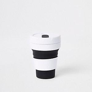 Stojo – Gobelet noir pliant en silicone