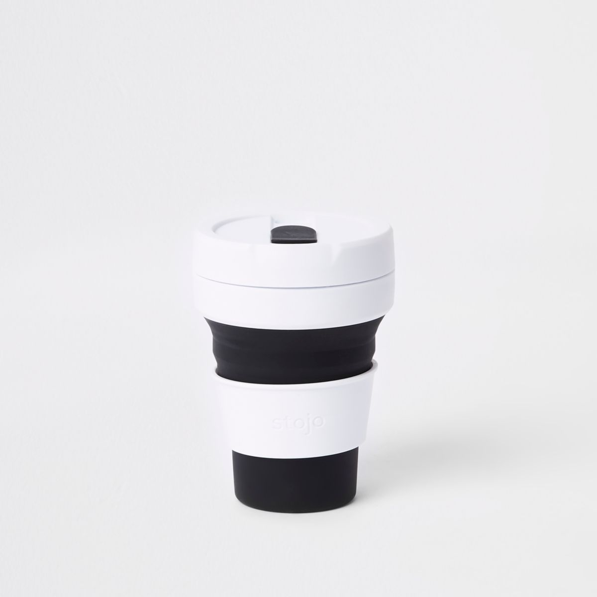 Stojo black silicone collapsible cup