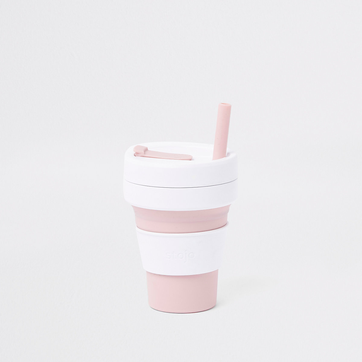 Stojo light pink silicone collapsible cup