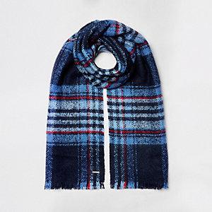 Blauw geruite sjaal