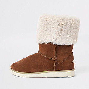 0f81096542ffe Flat Boots   Women Chaussures et bottes   River Island