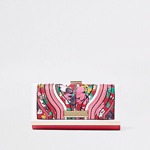 Rode knip met bloemenprint