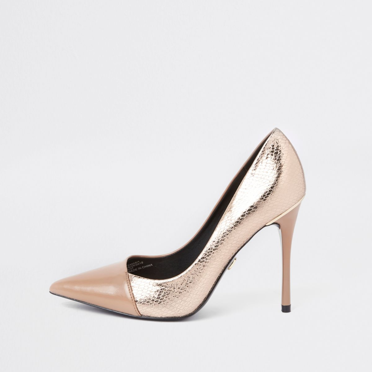 Bright gold wrap around court shoes