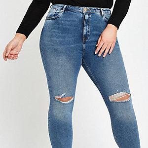 Plus – Original – Jean skinny bleu taille mi-haute