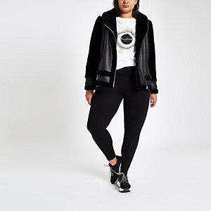 Plus – Legging en jersey noir