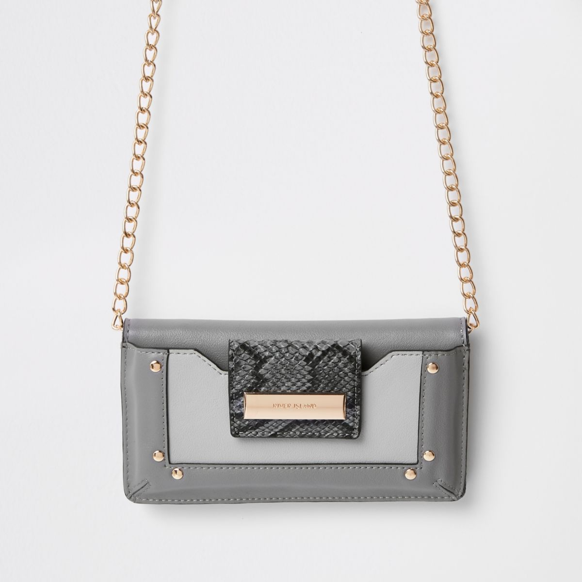 Dark grey purse cross body bag