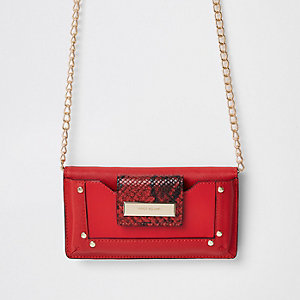 Dark red purse cross body bag