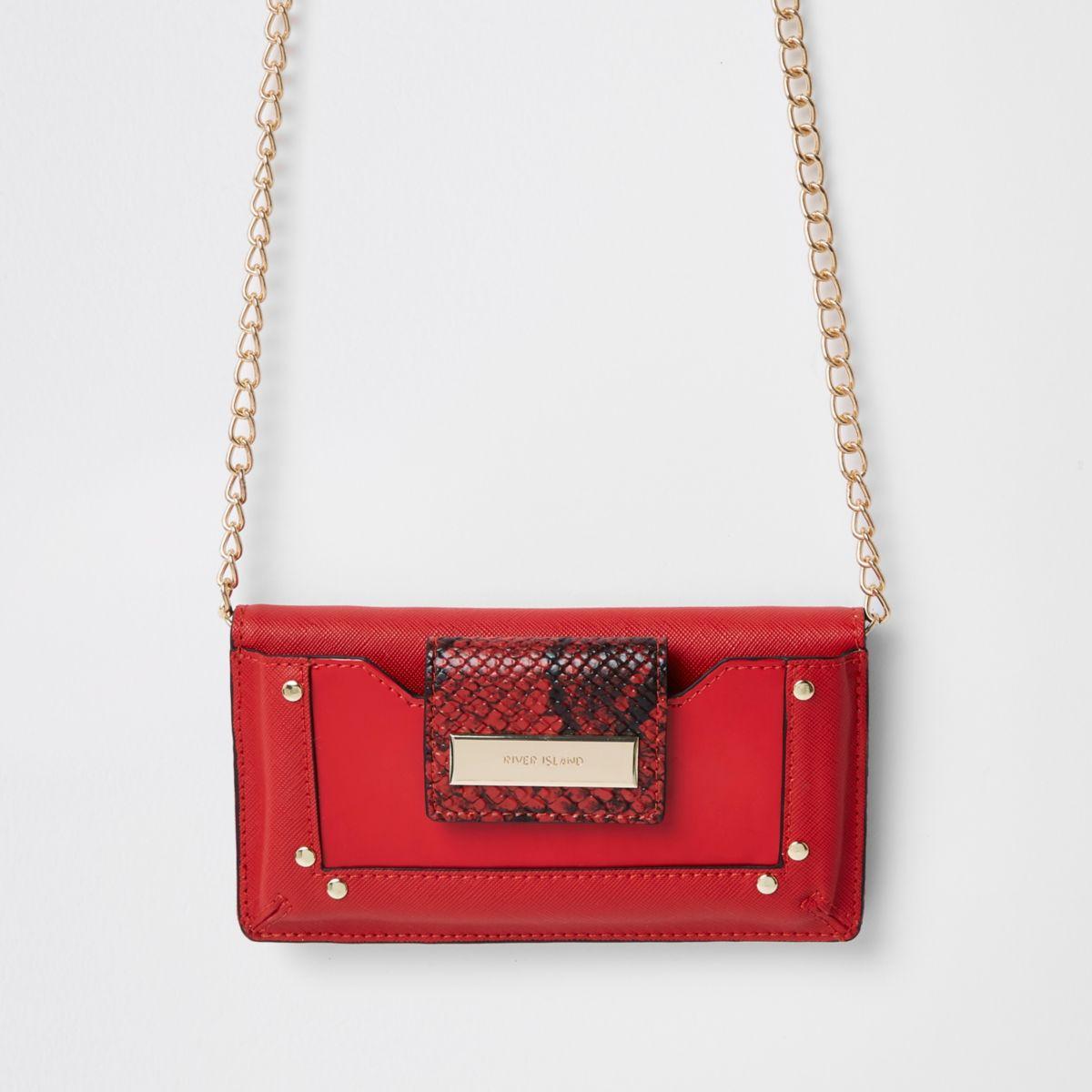 Dark red purse cross body bag