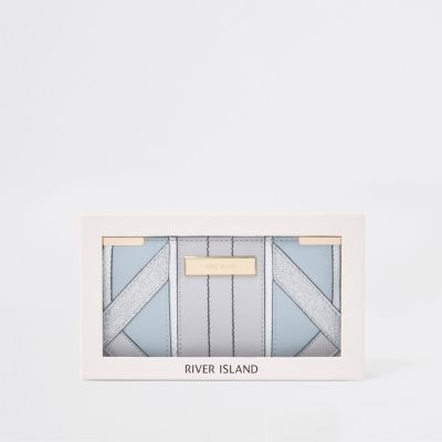 Light Blue Gift Boxed Slim Foldout Purse by River Island