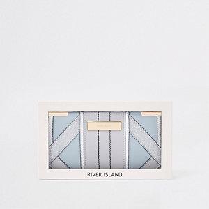 Coffret-cadeau porte-monnaie slim bleu clair à rabats