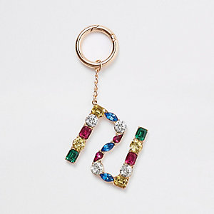 Gold RI jewel keyring