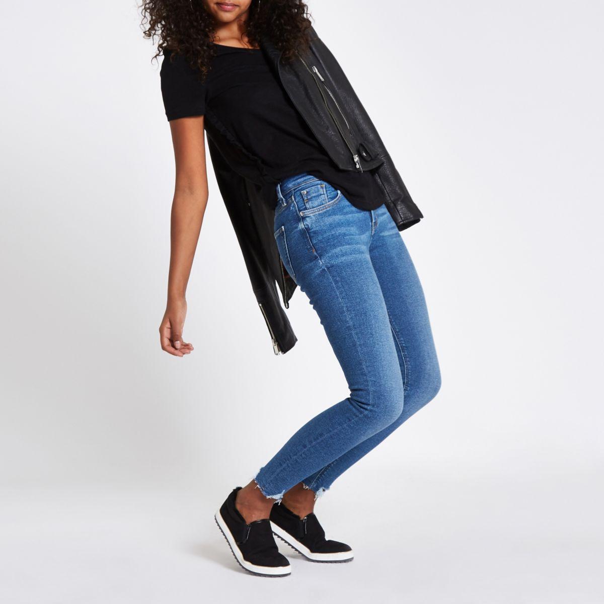 Black frill side T-shirt