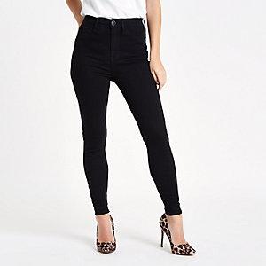 Petite – Harper – Jean skinny taille haute noir