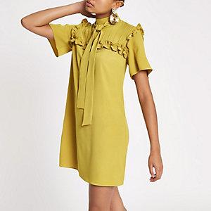 Yellow frill swing dress