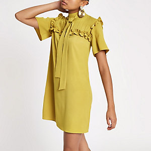 Yellow frill swing dress