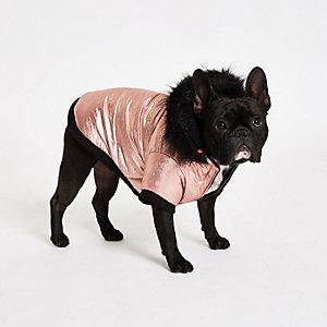 RI Dog Gold dog hooded puffer jacket