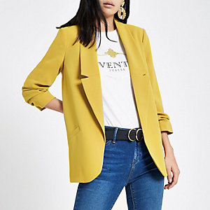 Yellow honey long sleeve blazer