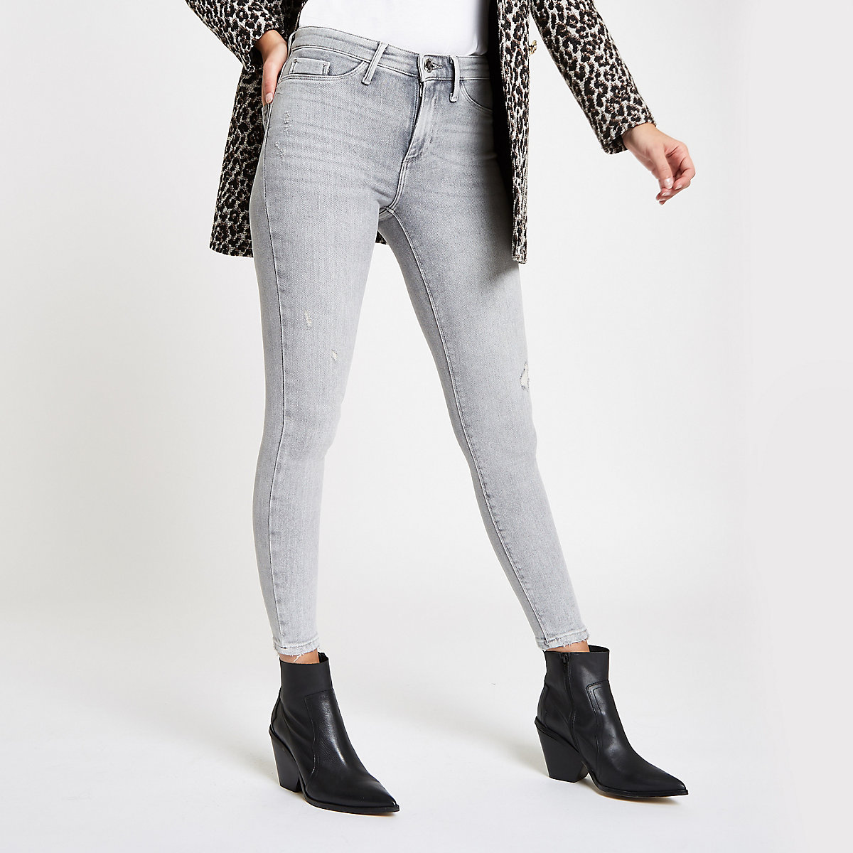 Grey RI Molly mid rise jeggings