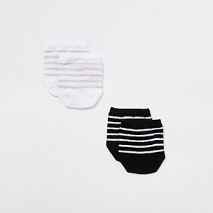 Black stripe toe cover sock mutlipack