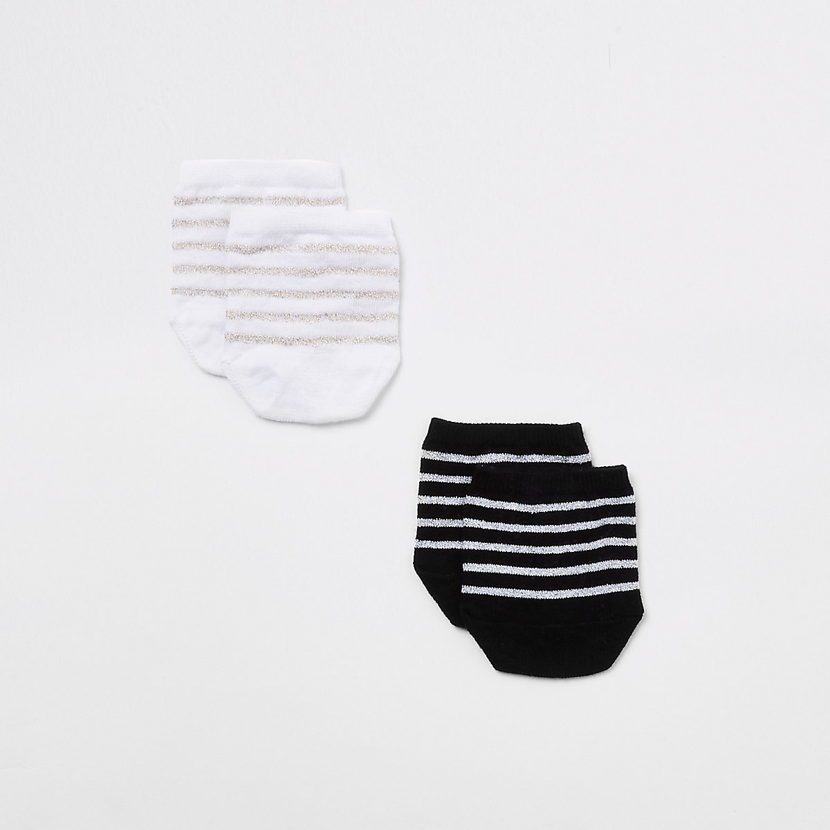 Black stripe toe cover sock mutlipack