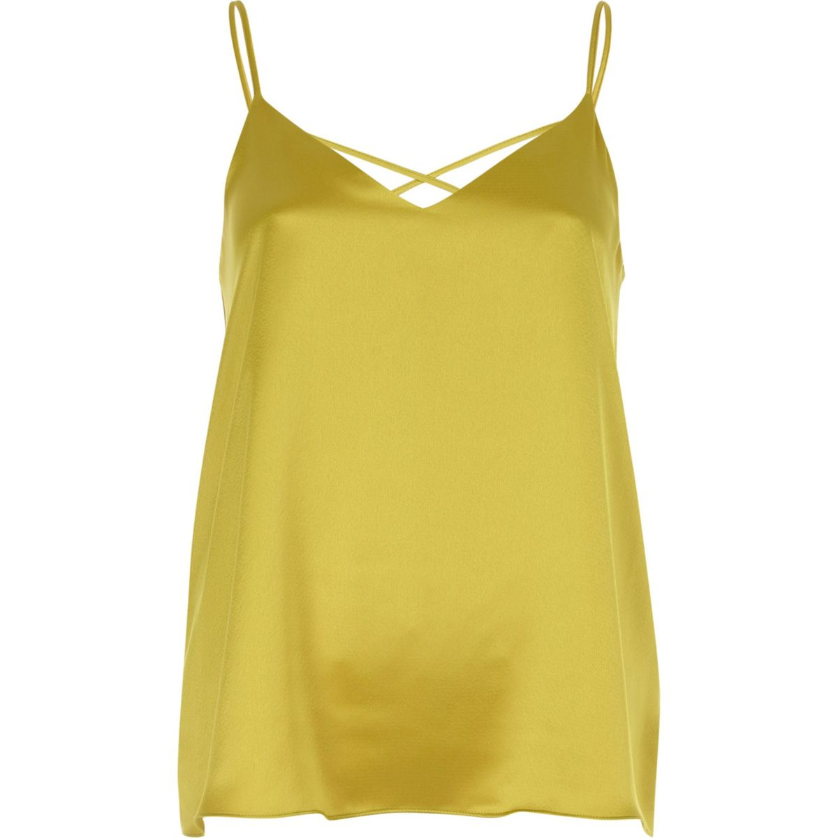 Yellow back cami top strap cross ORXqnRF