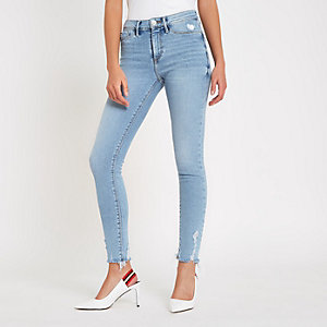 Molly – Jegging bleu clair taille mi-haute