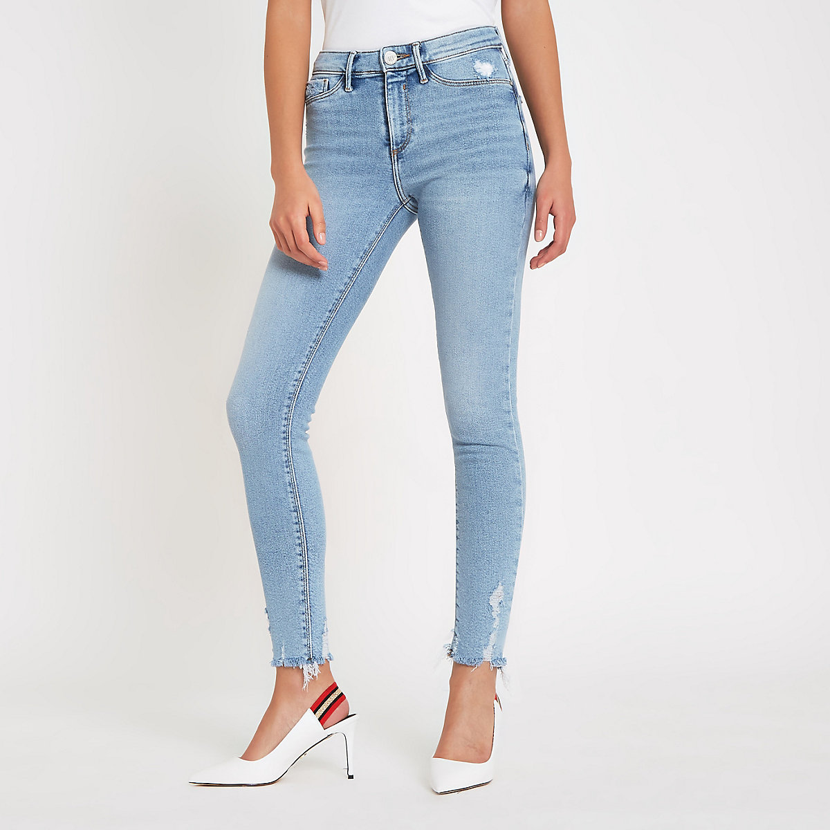 Light blue Molly mid rise jeggings