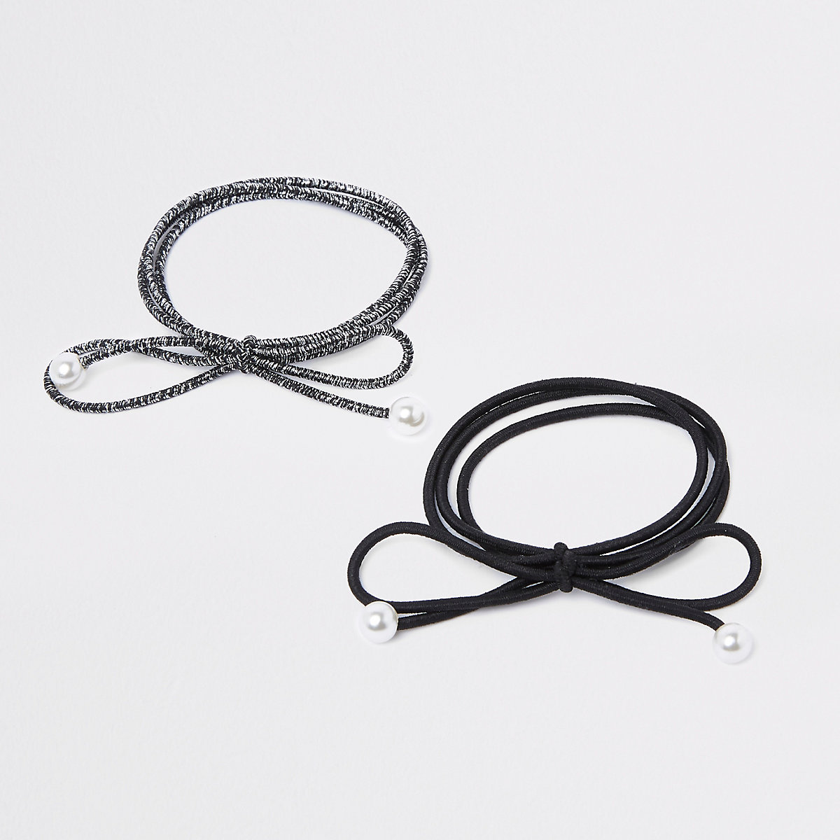 Black pearl hair tie pack