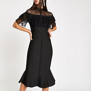 Forever Unique black lace bodycon dress