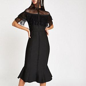 Forever Unique black lace bodycon dress