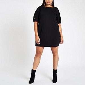 Plus – Schwarzes Swing-Kleid