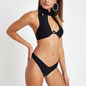 Haut de bikini noir dos nu