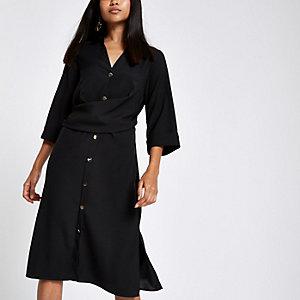 Robe chemise Petite noire torsadée sur le devant