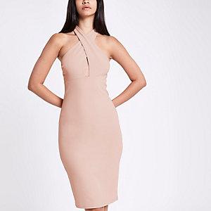 Pinkes Bodycon-Kleid aus Jersey