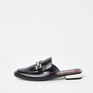 Zwarte loafers zonder achterkant