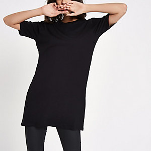 Zwart lang T-shirt