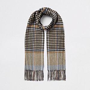 Bruine geruite smalle sjaal