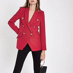 Red double breasted tux jacket