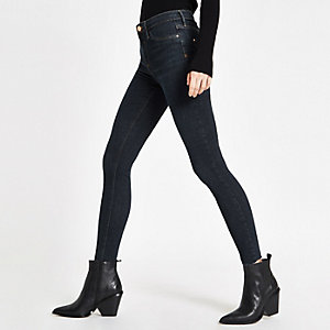 Dark blue RI mid rise Molly jeggings