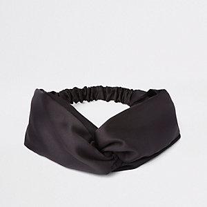 Zwarte gedraaide hoofdband