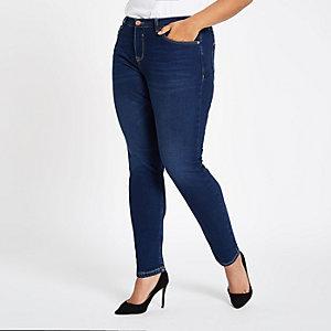 Plus – Alannah – Blaue Skinny Jeans