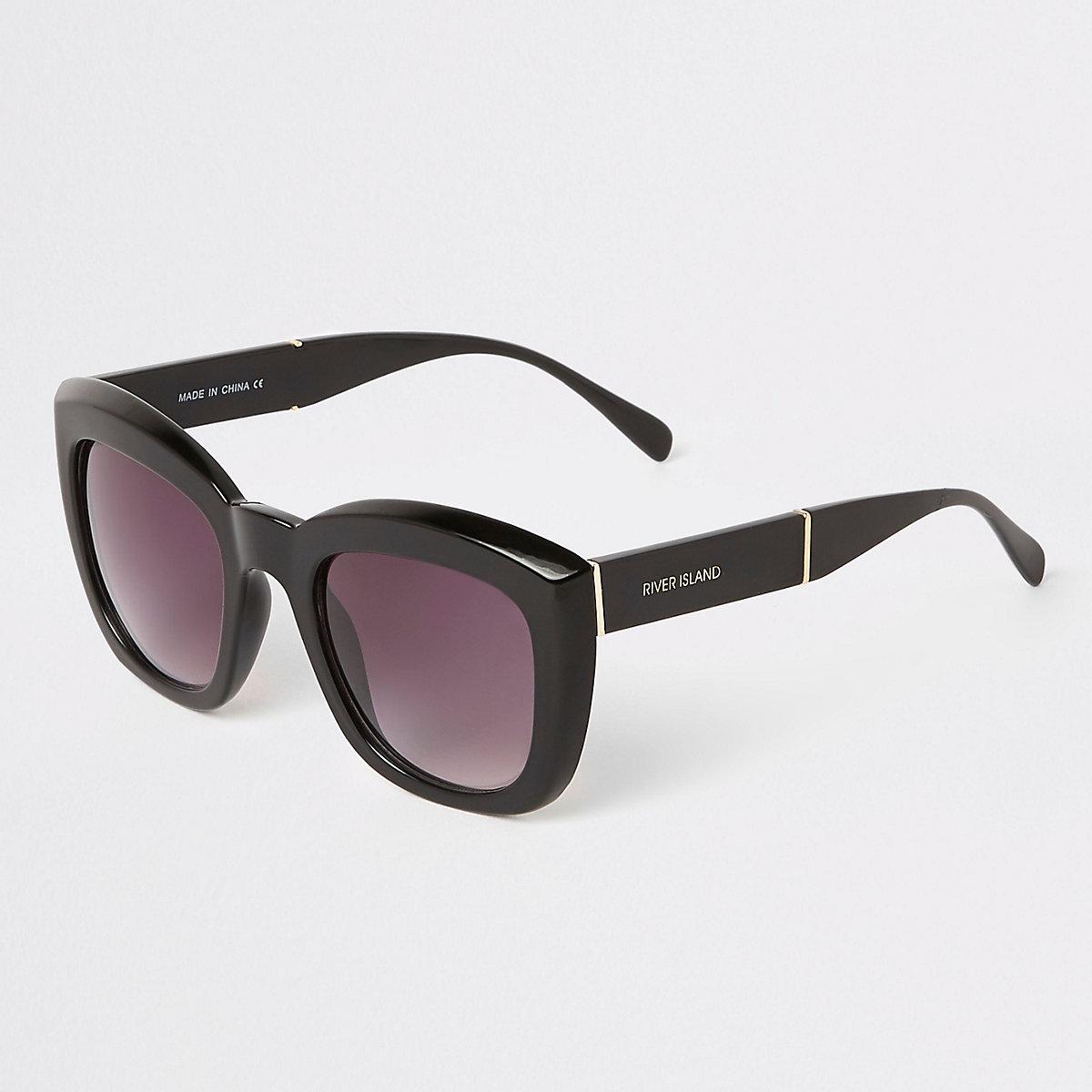 Black smoke lens square glam sunglasses - Oversized Sunglasses ... 92d06faeb2