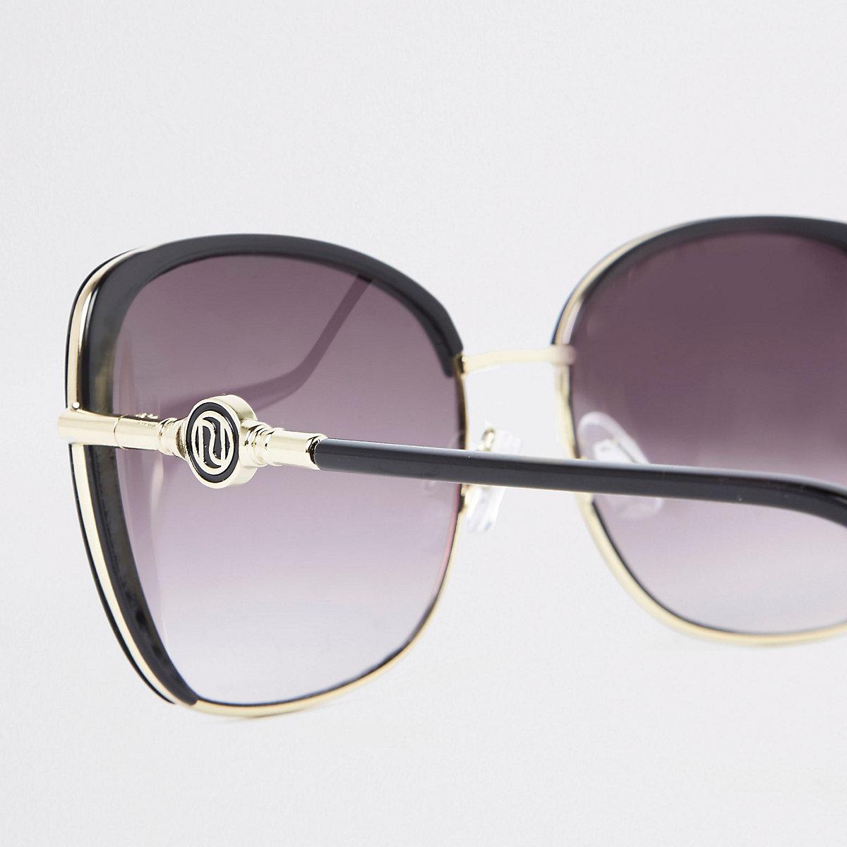 Black smoke lens glam sunglasses - Oversized Sunglasses - Sunglasses ... fda1d338ef