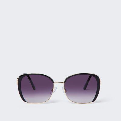 Black Smoke Lens Glam Sunglasses by River Island