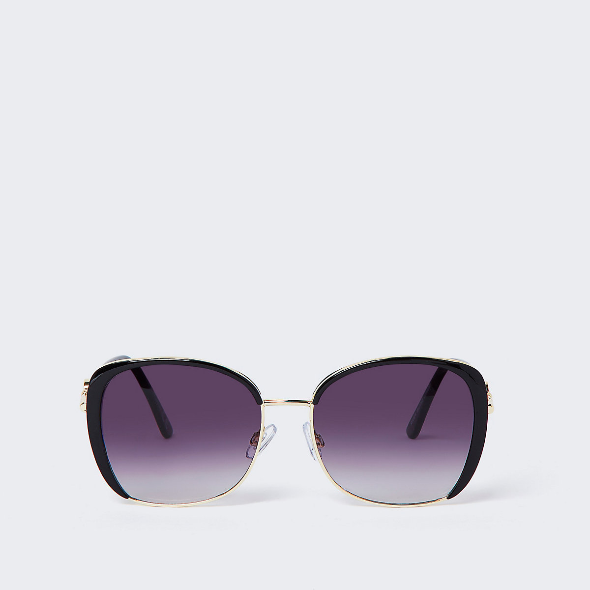 Lunettes de soleil glamour noires à verres fumés - Lunettes de ... 3e65f067df22