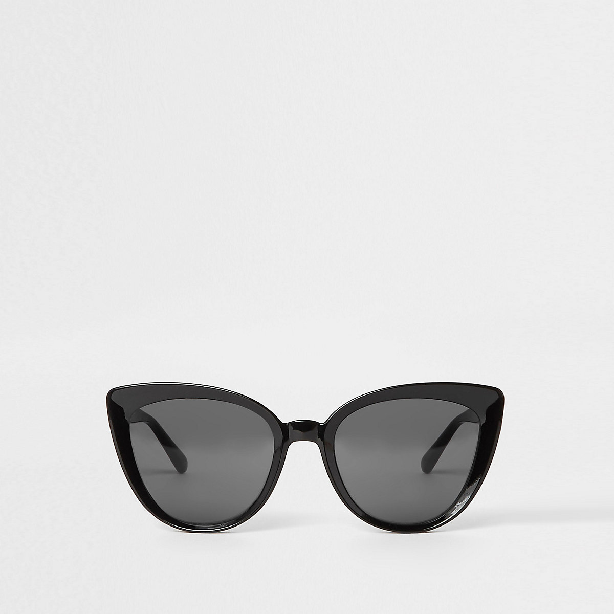 Black smoke lens cat eye sunglasses