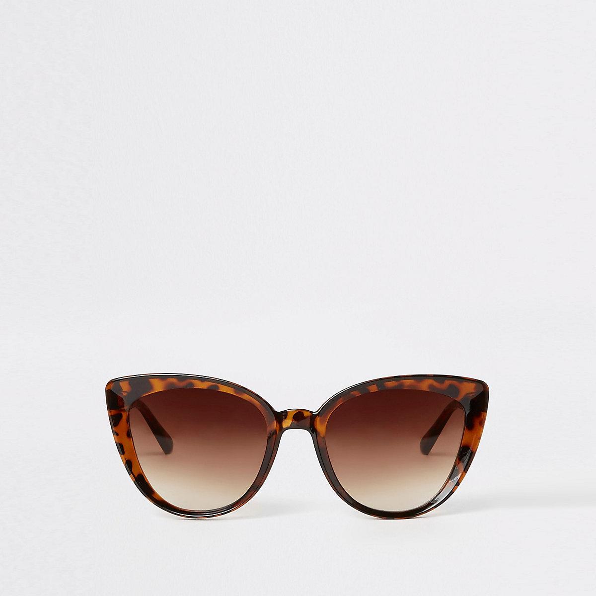 Bruine tortoise cat-eye-zonnebril