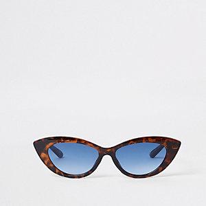 Bruine visor-zonnebril met tortoise-print