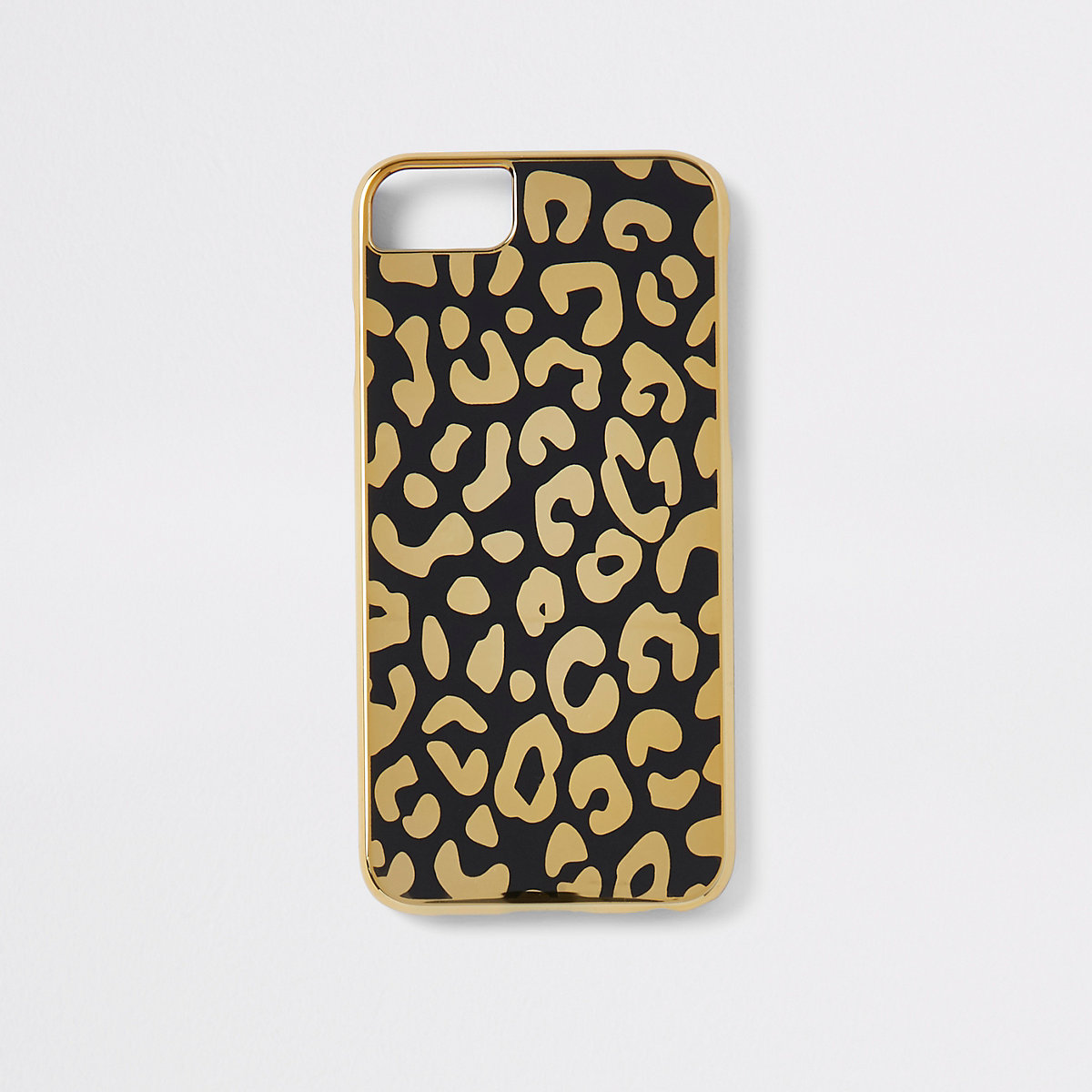 Gold leopard print iPhone case